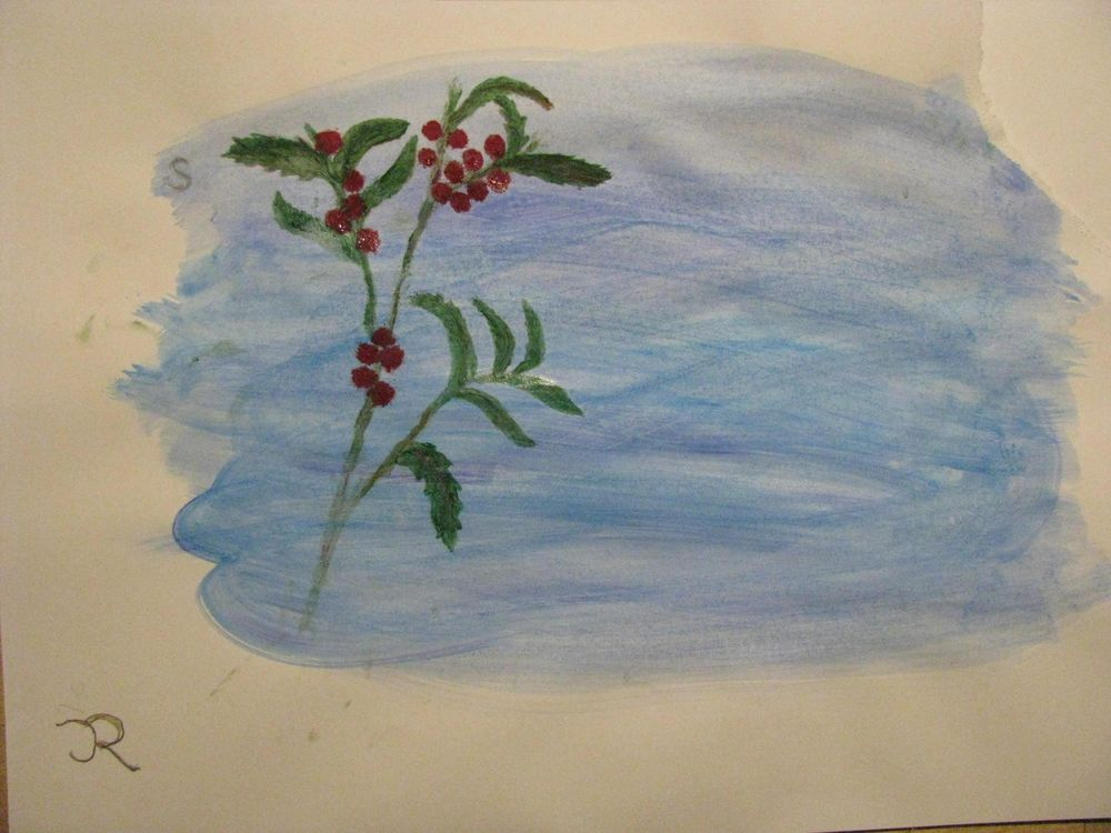 Festive Letter paper with  plants in winter - image 2 - student project