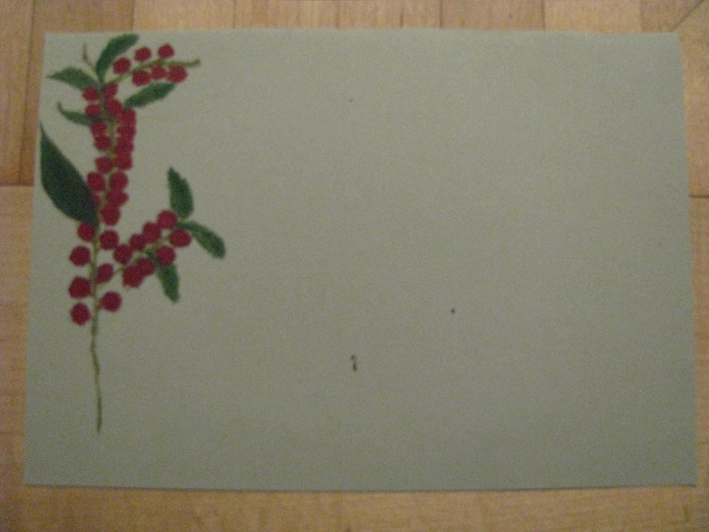 Festive Letter paper with  plants in winter - image 4 - student project