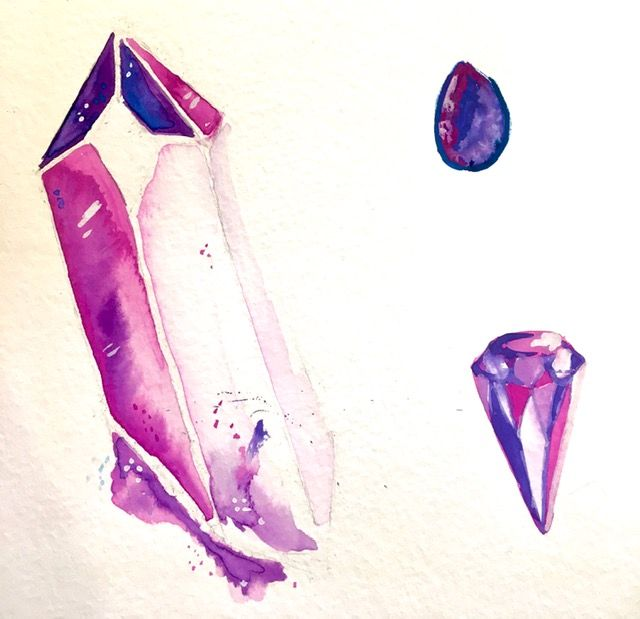 Gouache Crystals - image 1 - student project