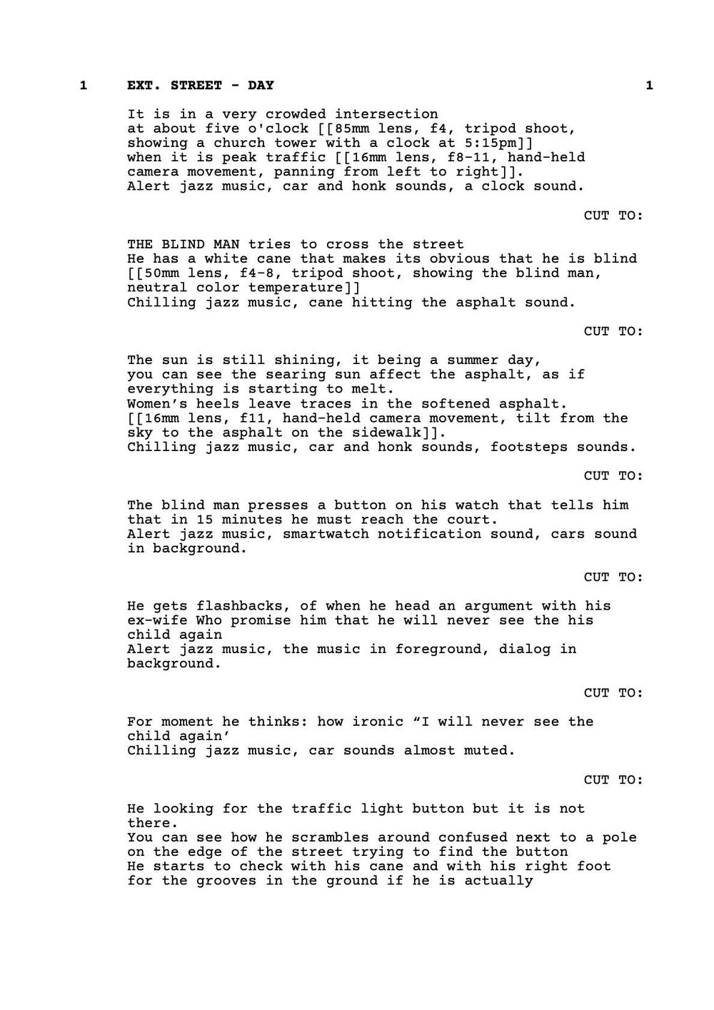 SCREENPLAY DRAFT - image 2 - student project