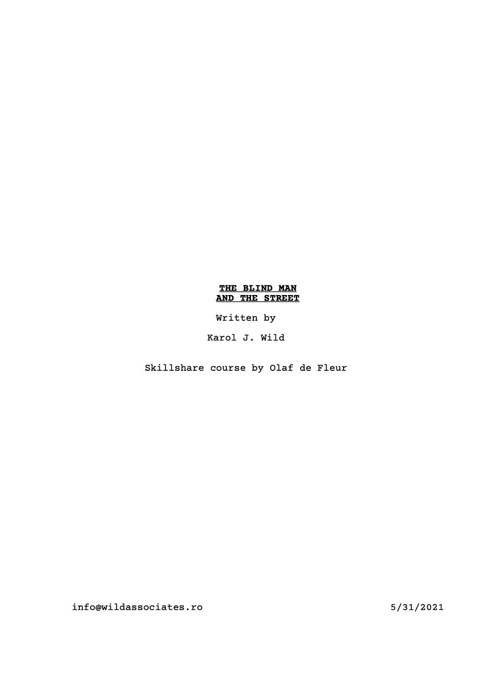 SCREENPLAY DRAFT - image 1 - student project
