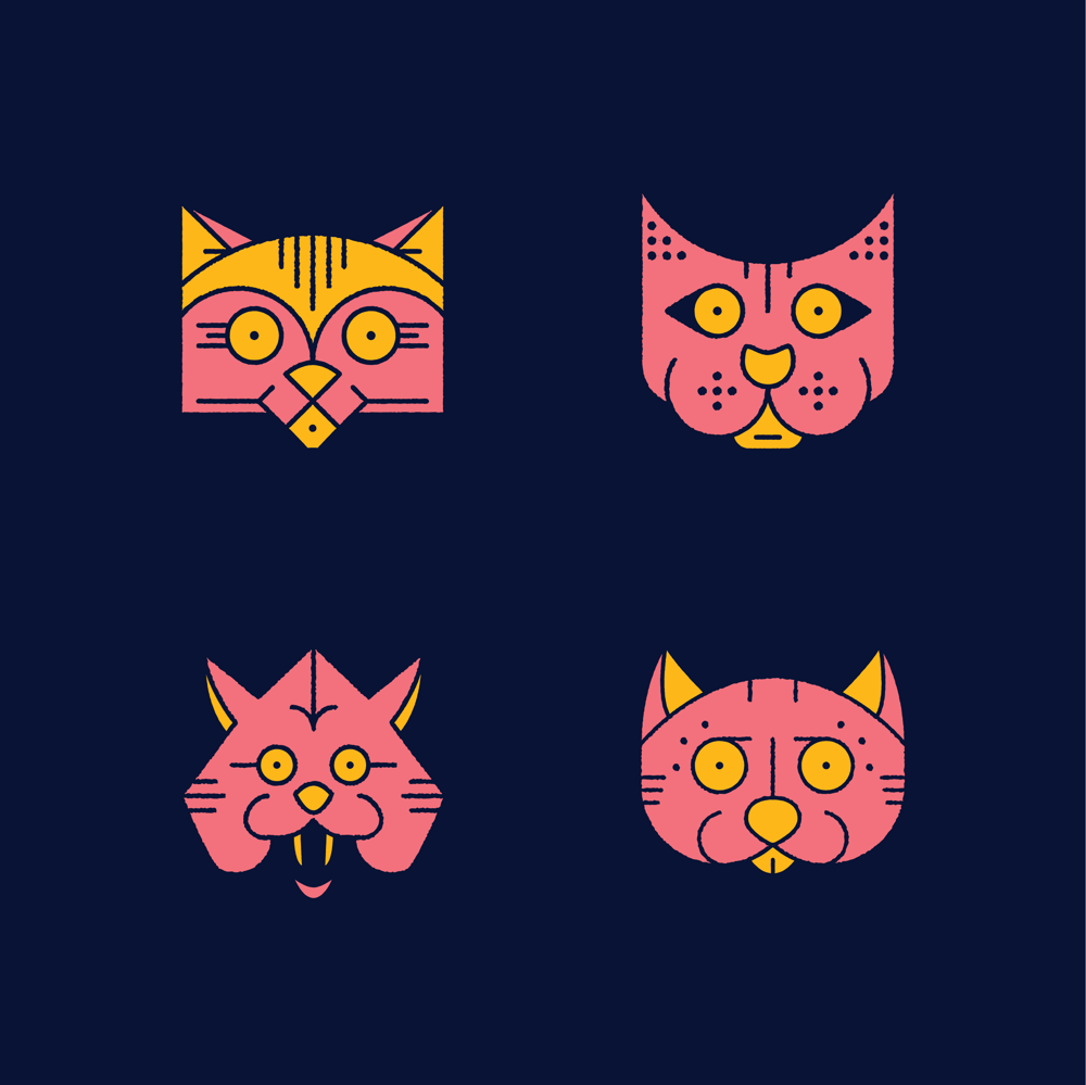 Monoline Cats & Skulls - image 1 - student project