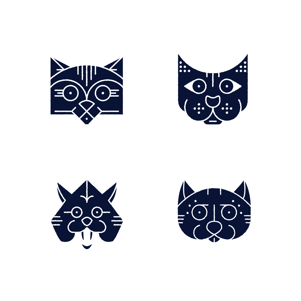 Monoline Cats & Skulls - image 3 - student project