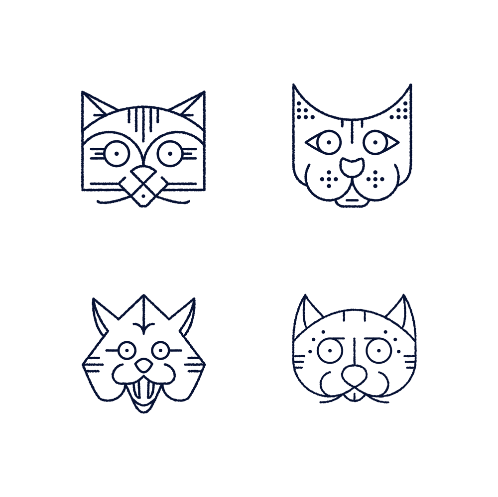 Monoline Cats & Skulls - image 2 - student project