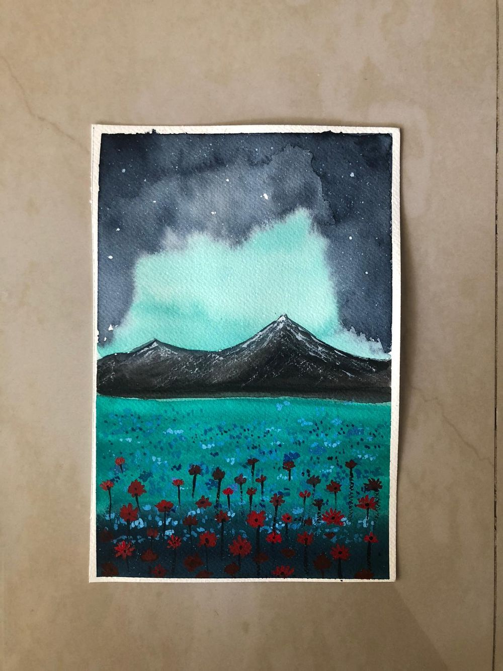 floral meadows with watercolor - image 1 - student project