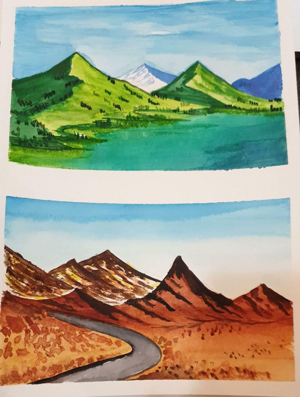 watercolor landscape master class with z - image 1 - student project