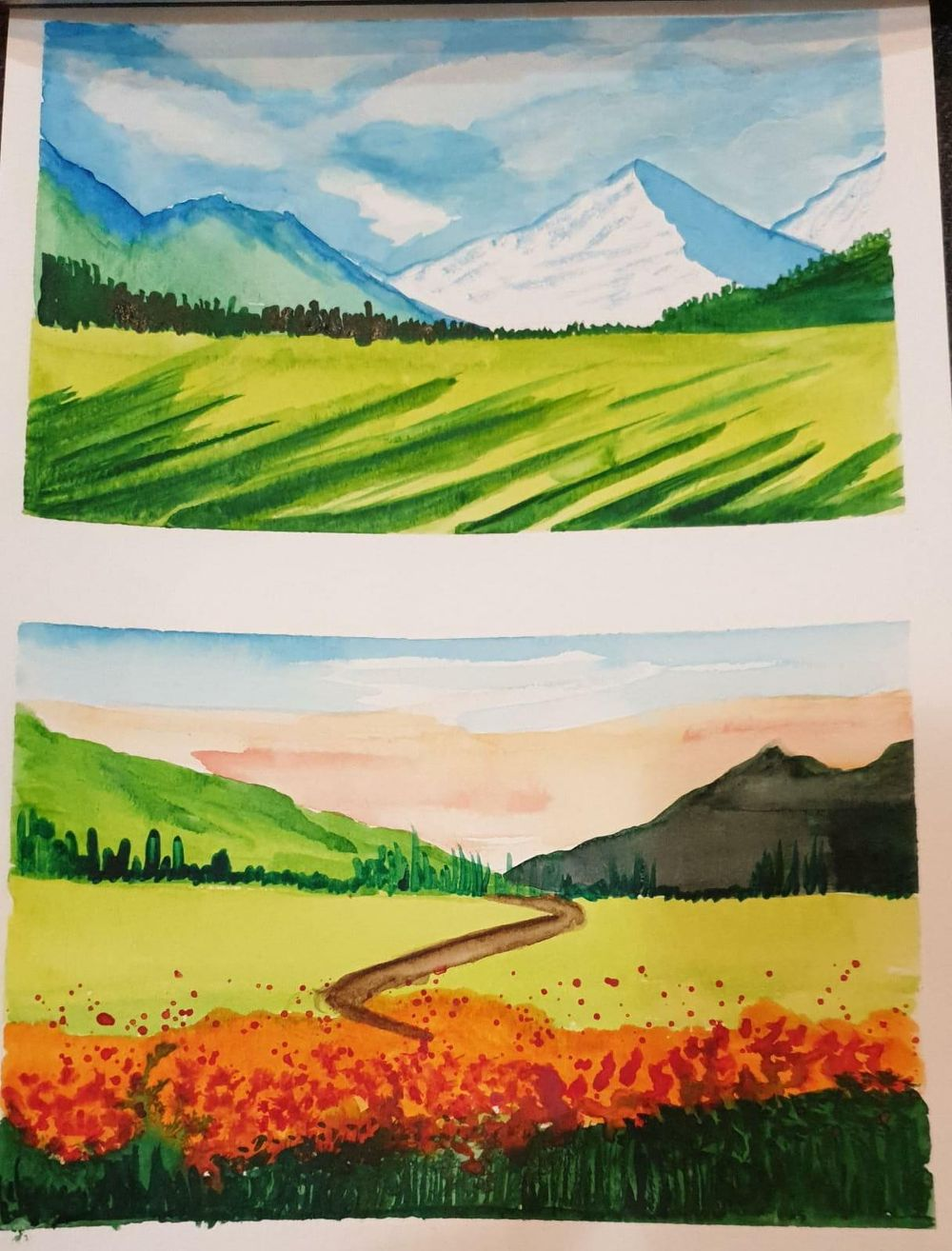 watercolor landscape master class with z - image 2 - student project