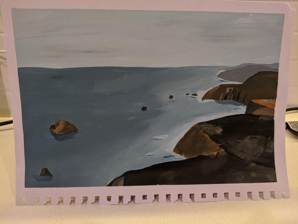 Orange and cliffs - image 1 - student project