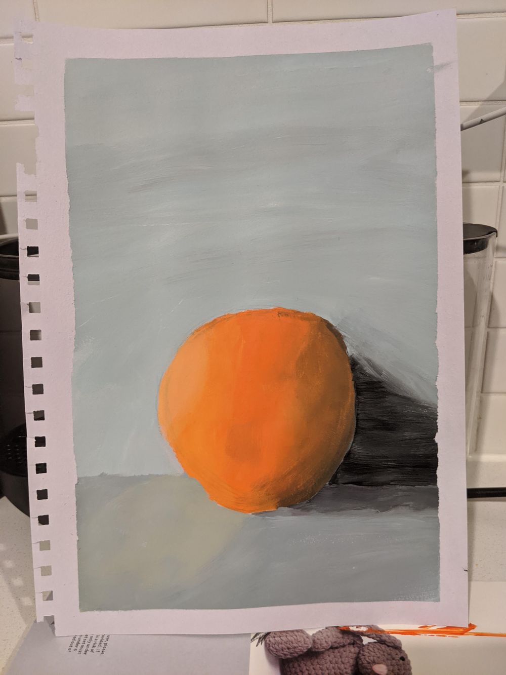 Orange and cliffs - image 2 - student project