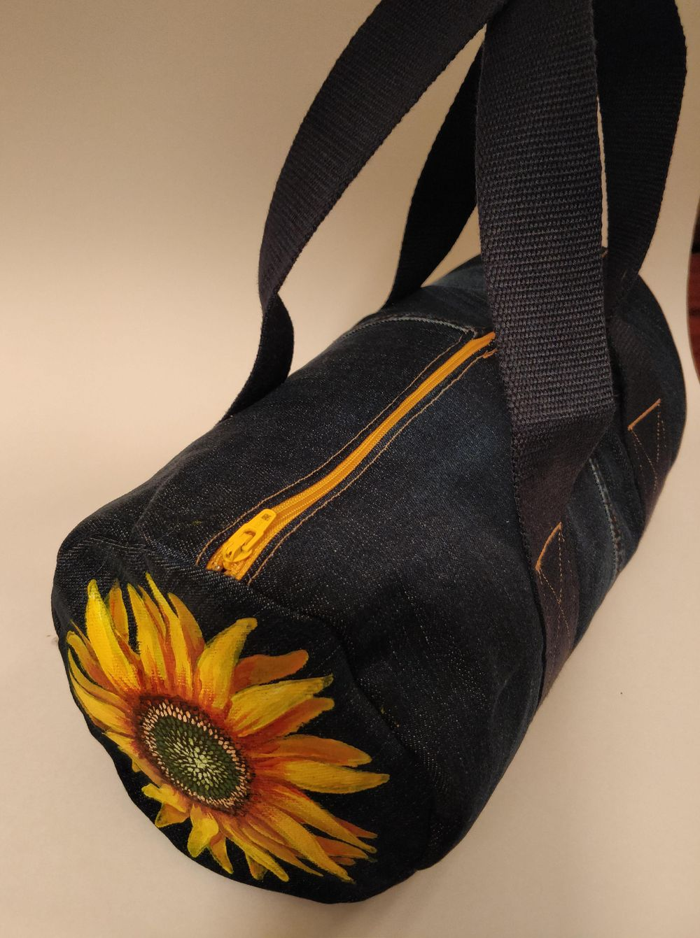 Sunflower on a Jean Bag - image 3 - student project
