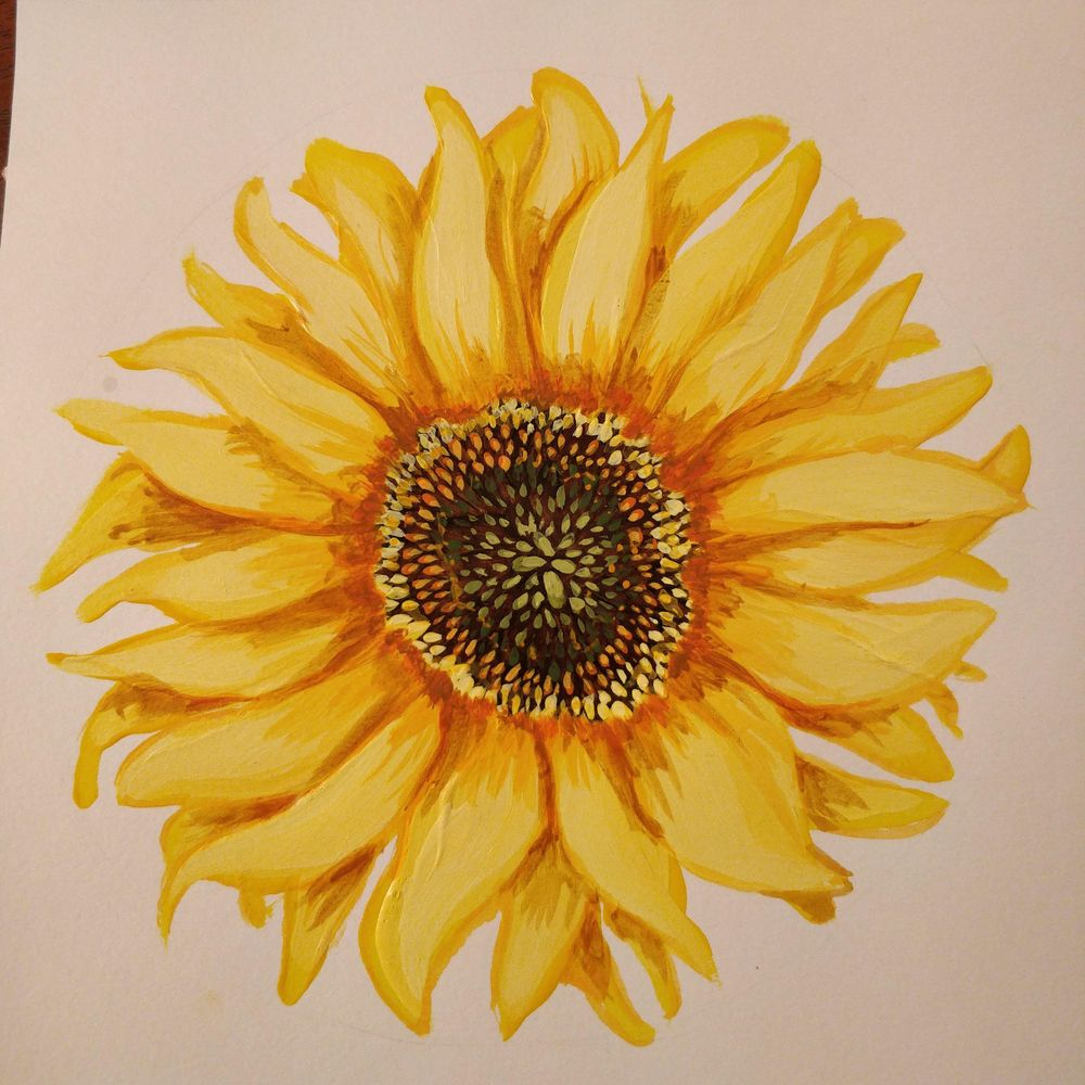 Sunflower on a Jean Bag - image 1 - student project