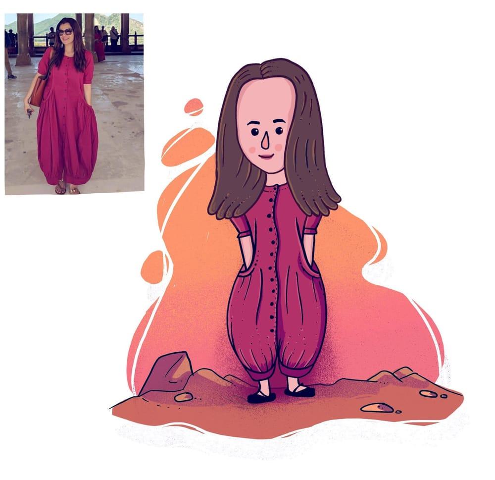 Cute Cartoon Caricature - image 1 - student project