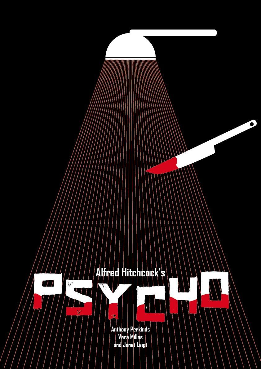 """Poster """"PSYCHO"""" - image 4 - student project"""