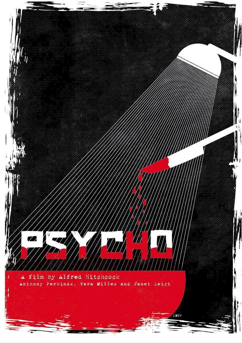 """Poster """"PSYCHO"""" - image 6 - student project"""
