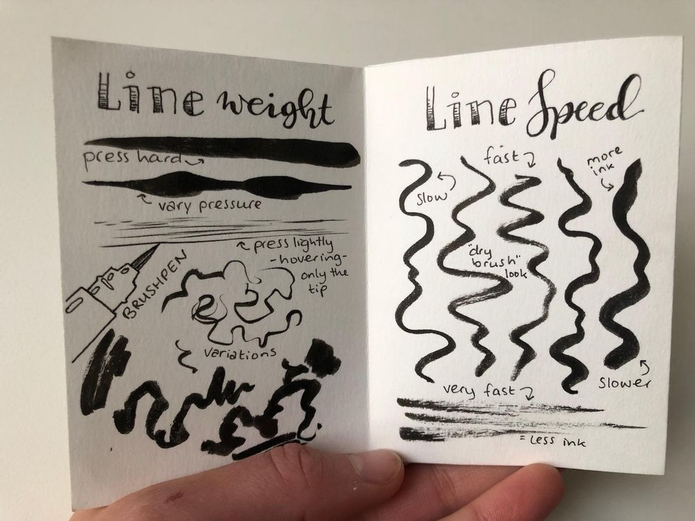 Brush Pen Zine - image 2 - student project