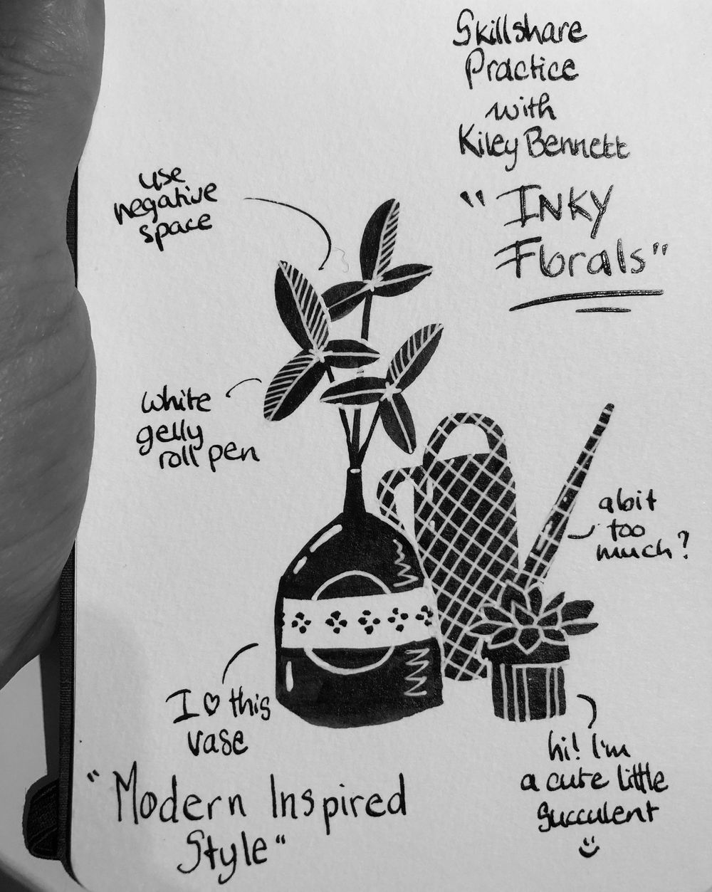Inky doodles - image 2 - student project