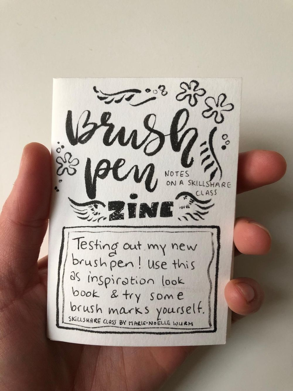 Brush Pen Zine - image 1 - student project