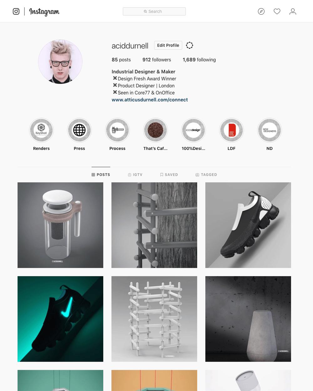 Industrial Designer IG - image 1 - student project