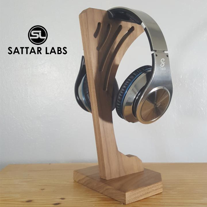 Wooden headphone stand - image 1 - student project