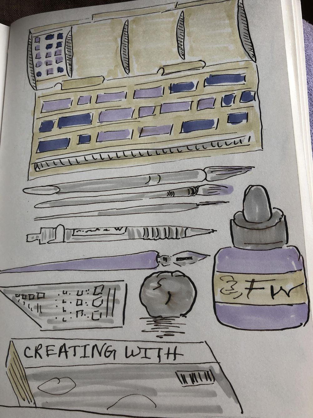 14 days of illustrated journal prompts - image 2 - student project
