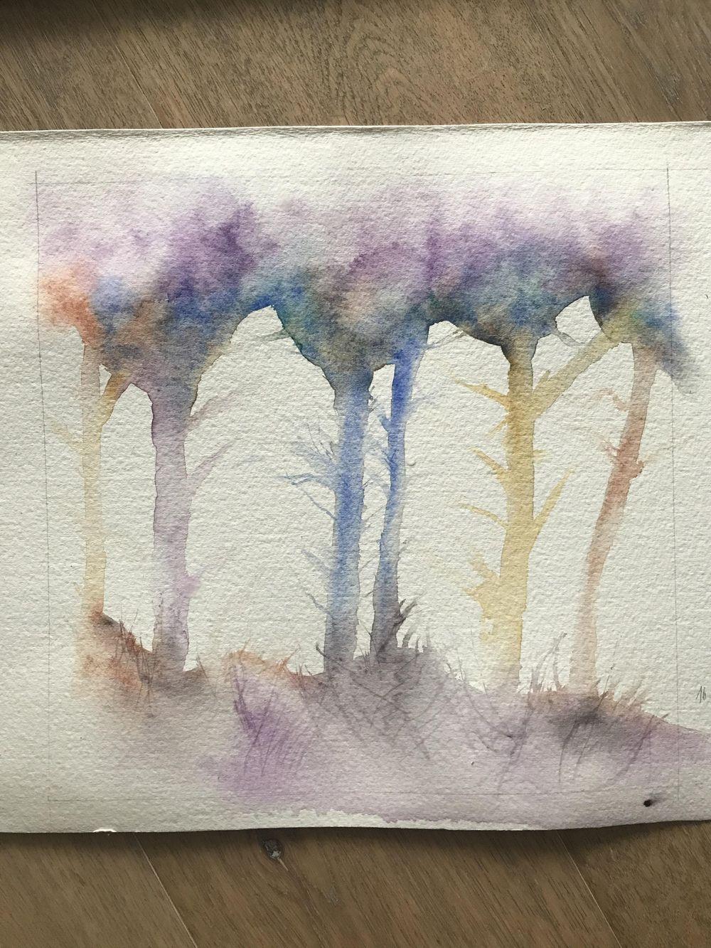 My rainbow trees - image 1 - student project