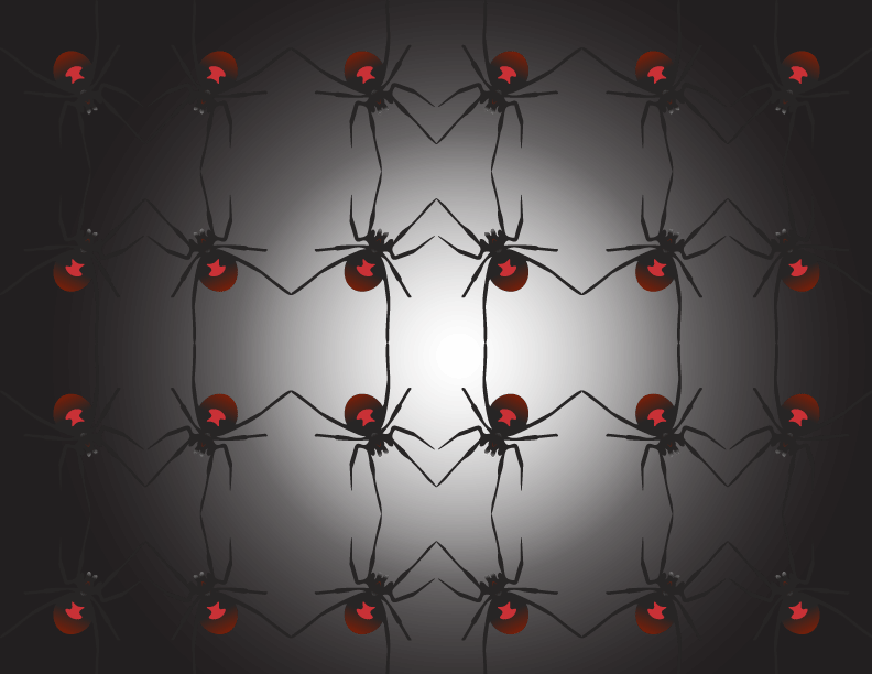 Repeating Shapes (Black Widow Spider) - image 1 - student project