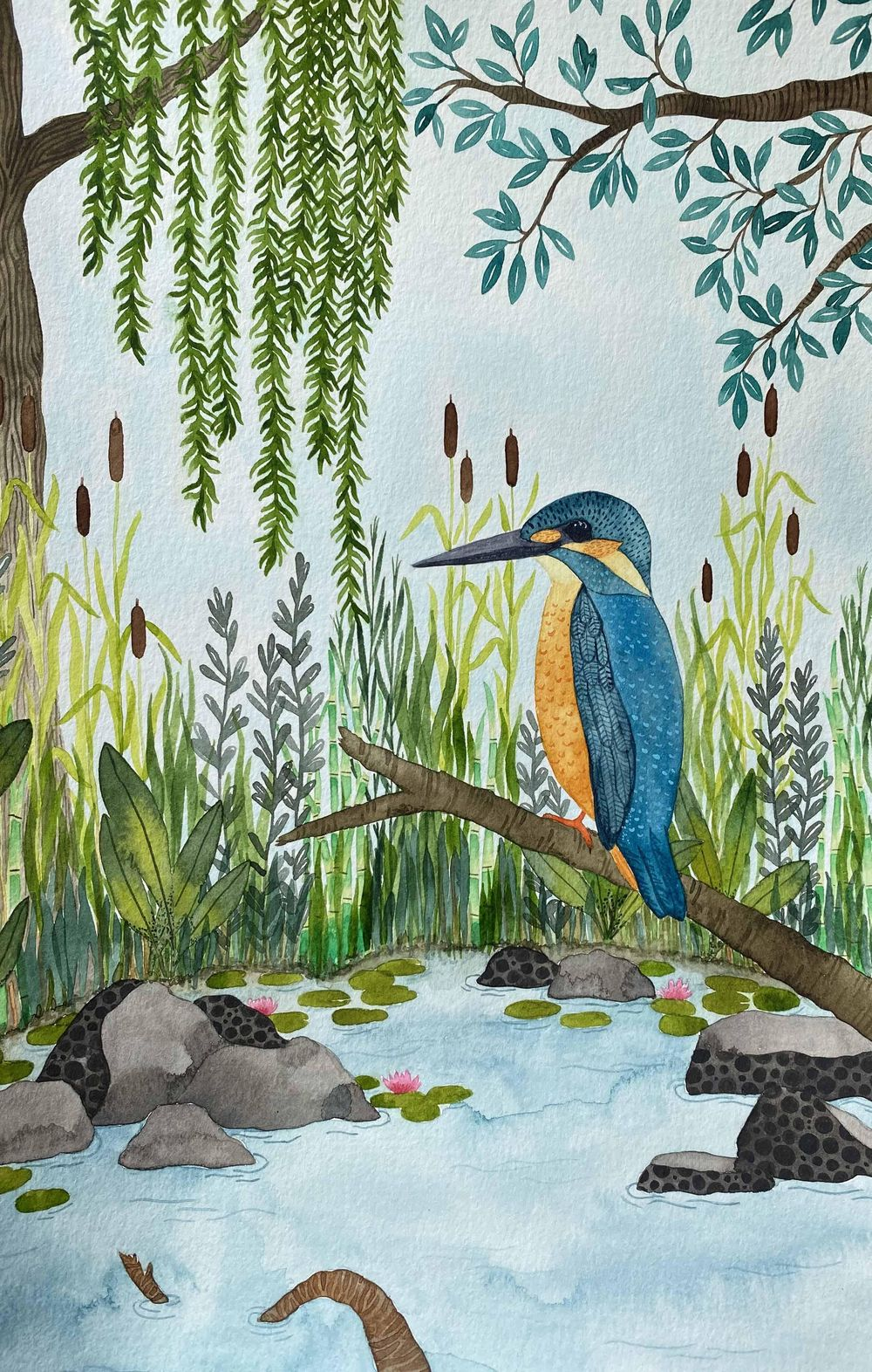 Watercolor Textures: Kingfisher - image 7 - student project