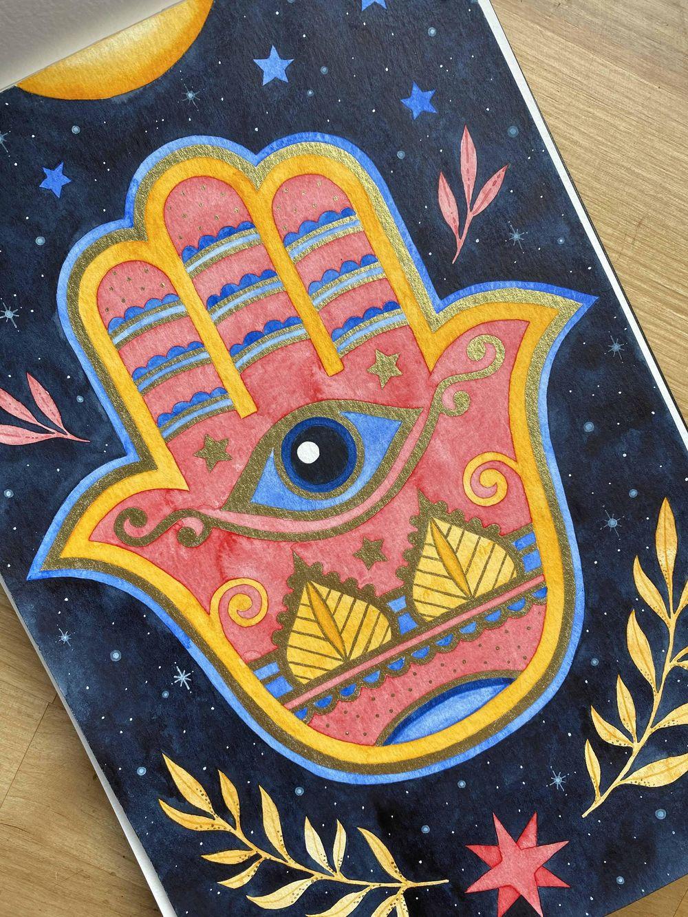 Hamsa Hand - image 2 - student project