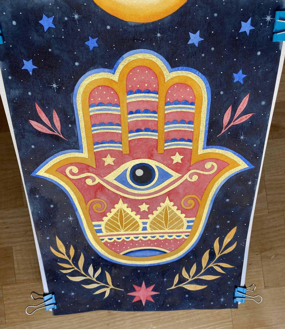 Hamsa Hand - image 4 - student project