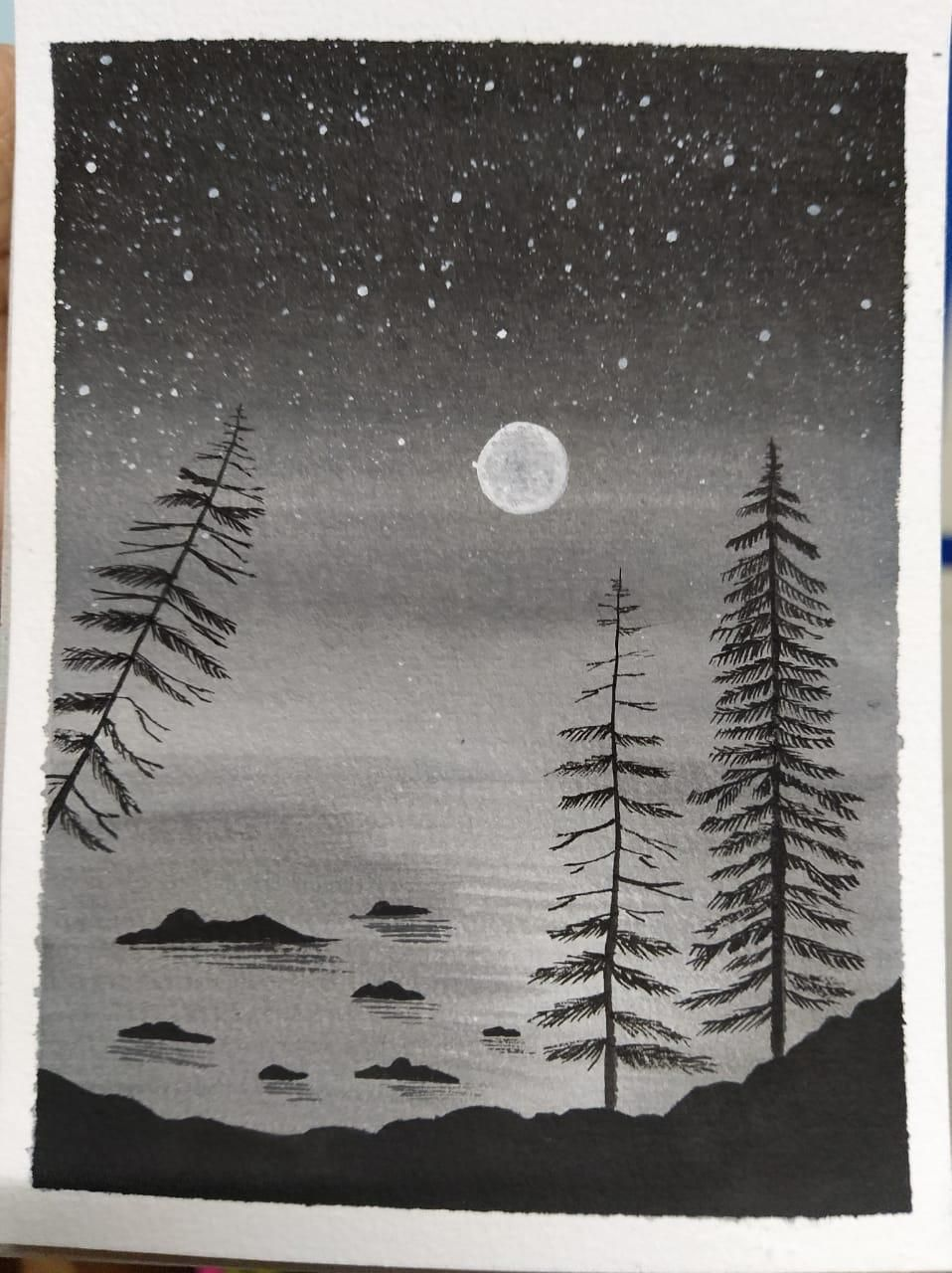 Pine Tree Paintings - image 2 - student project