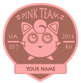 Pink Team Badge in Adobe Illustrator - image 1 - student project