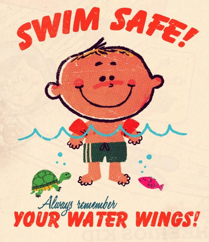 vintage Learn to Swim ad - image 1 - student project