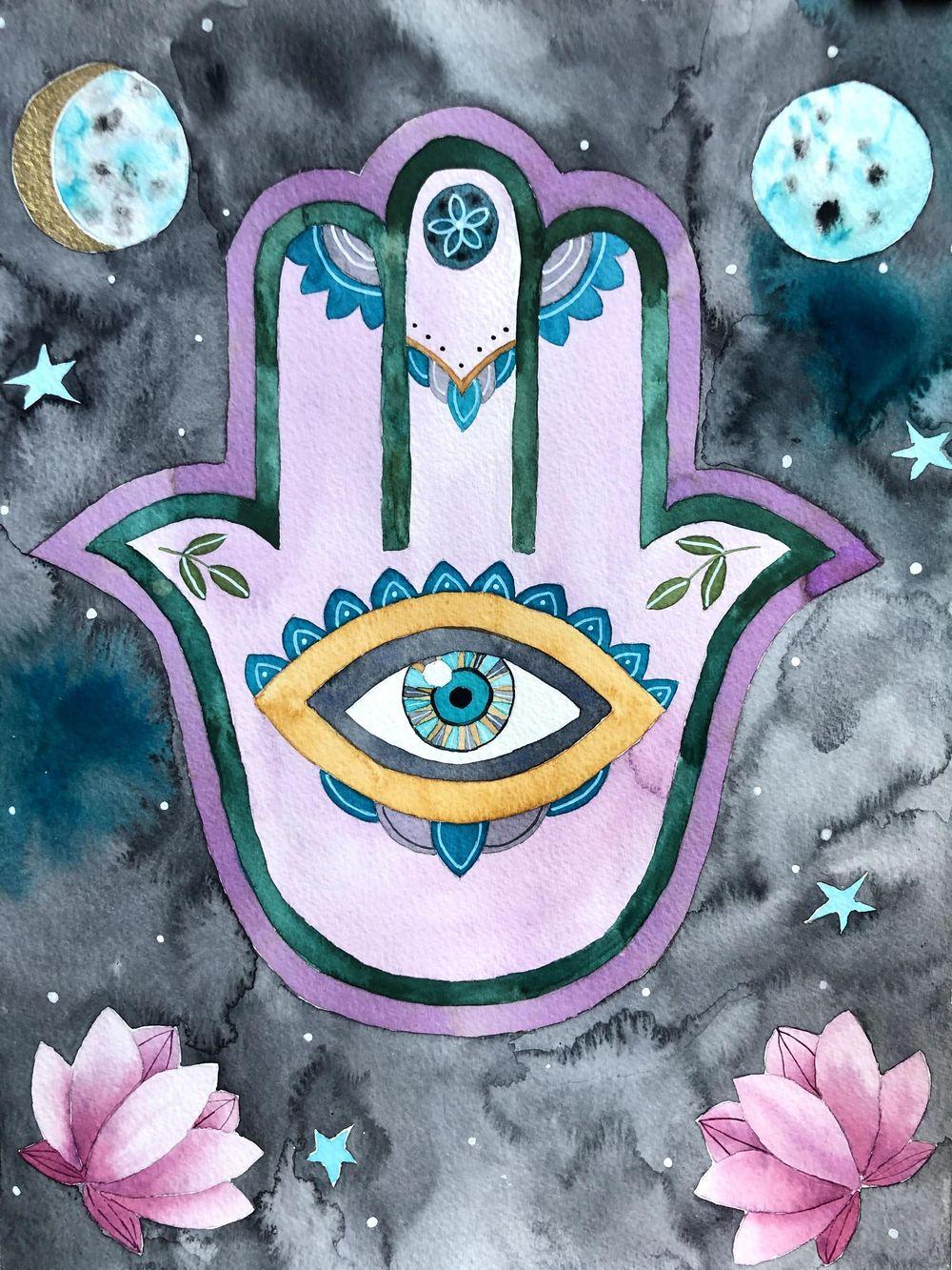 Hamsa hand - image 1 - student project
