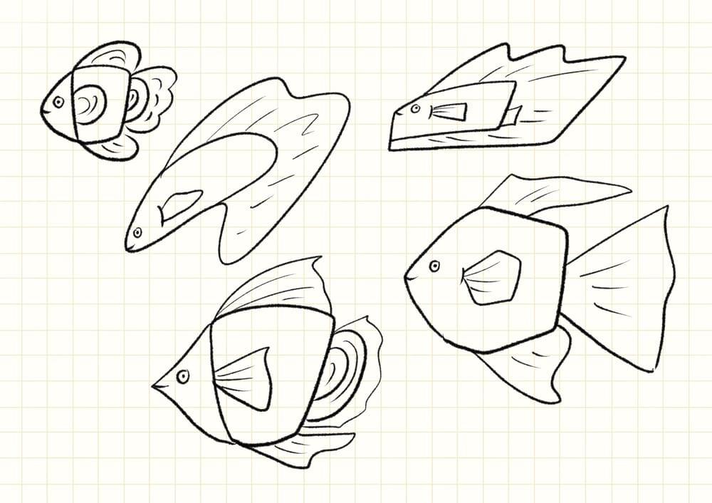 coffee mug fish - image 1 - student project