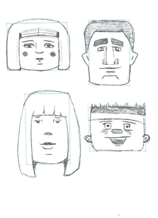 Face shape exercises - image 1 - student project