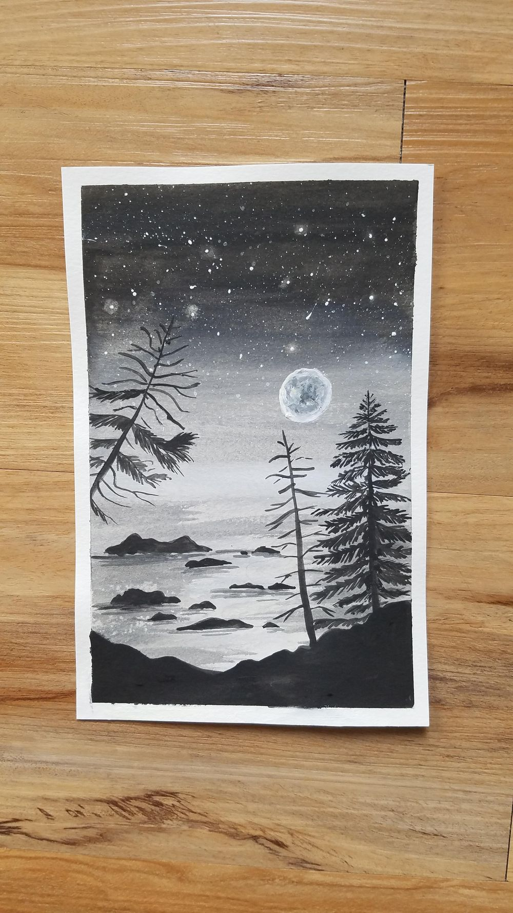 Learn how to draw pine trees - image 1 - student project