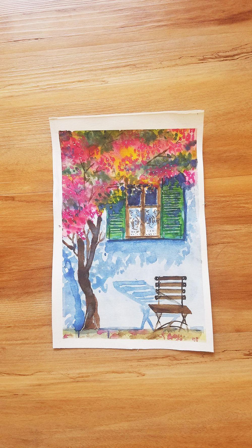 Watercolor Urban Landscape - image 1 - student project
