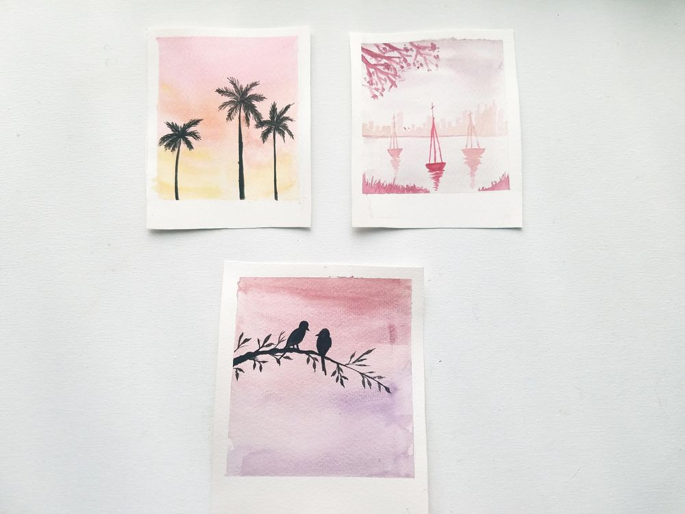 Relaxing Watercolors Projects for Beginners - image 3 - student project