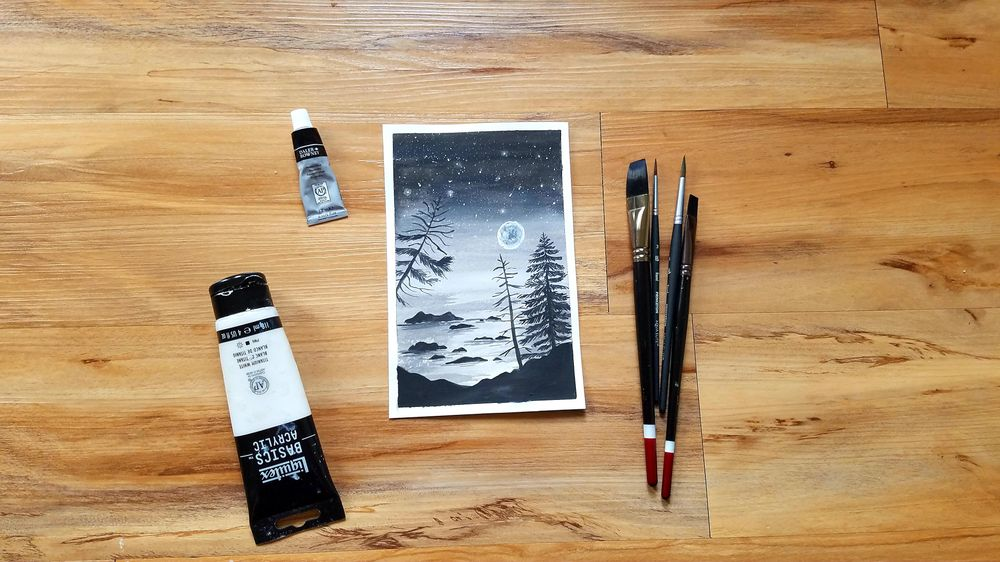 Learn how to draw pine trees - image 2 - student project