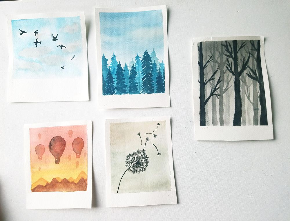 Relaxing Watercolors Projects for Beginners - image 1 - student project