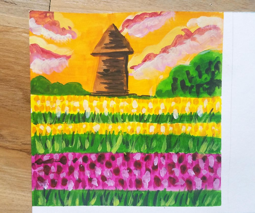 Gouache Meadow Paintings - image 1 - student project