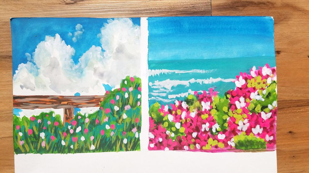 Gouache Meadow Paintings - image 2 - student project