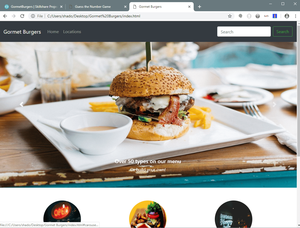GormetBurgers - image 1 - student project