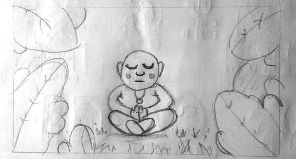 The Calm Monk  - image 1 - student project
