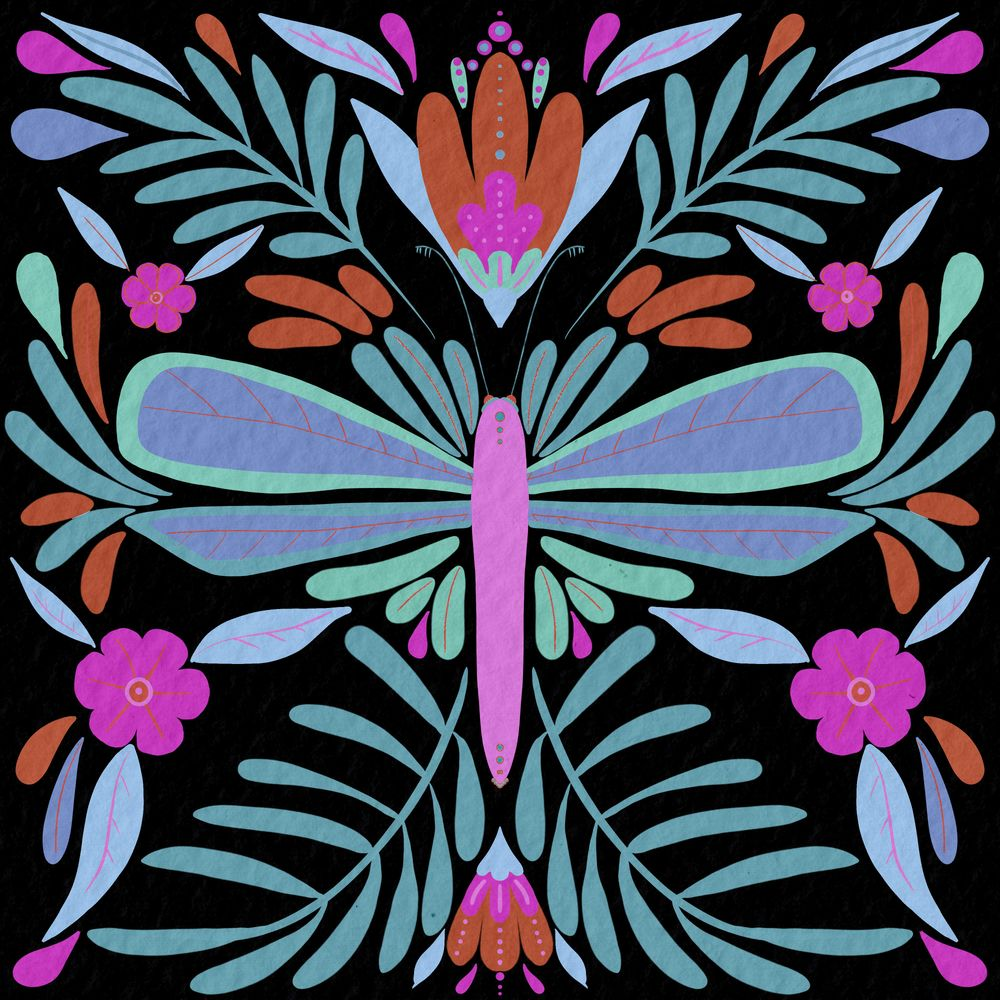 Dragonfly Colorways - image 2 - student project