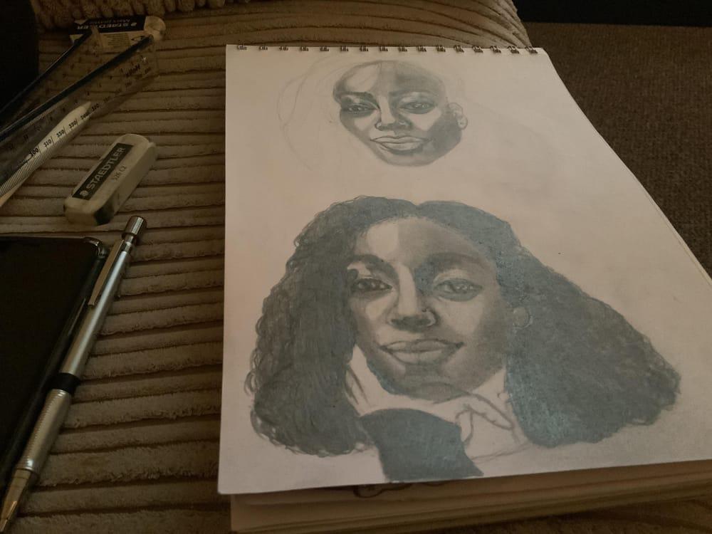 Portrait sketch attempt - image 1 - student project