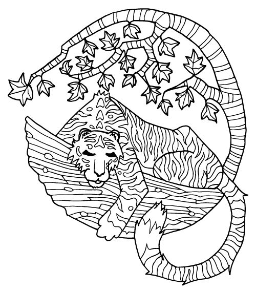 Tiger colouring page - image 1 - student project