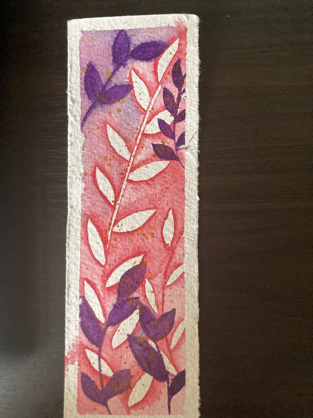 Negative Painting Bookmark - image 1 - student project
