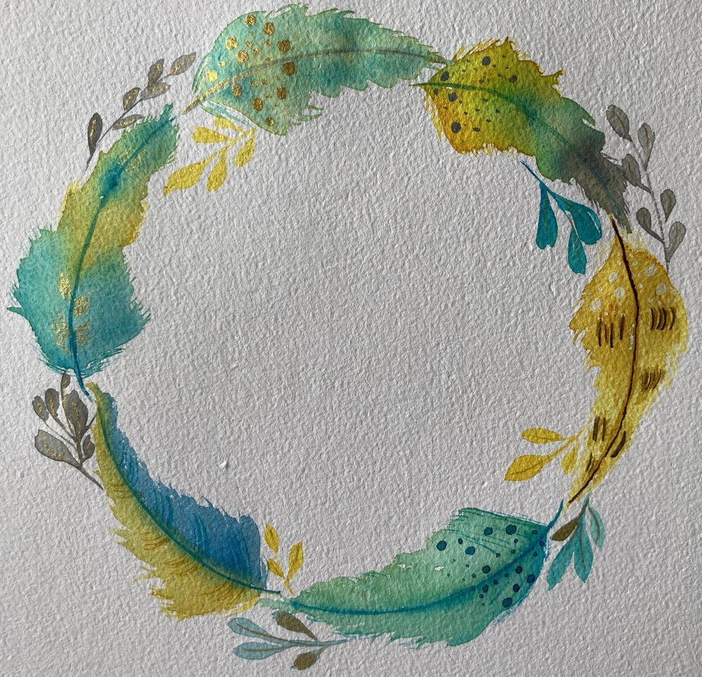 Feathers Wreath - image 2 - student project