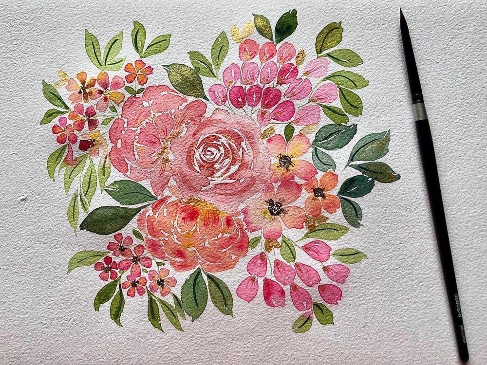 Blush Pink Bouquet - image 1 - student project